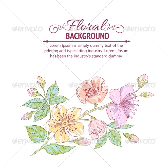 GraphicRiver Abstract Flower Background 4639552