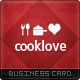 Cook Love Business Card - GraphicRiver Item for Sale