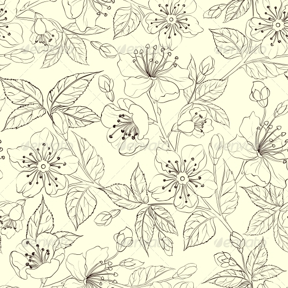 GraphicRiver Seamless Floral Pattern 4639642