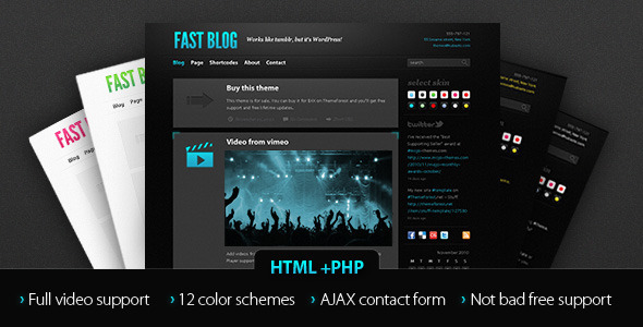 Fast Blog template - Personal Site Templates