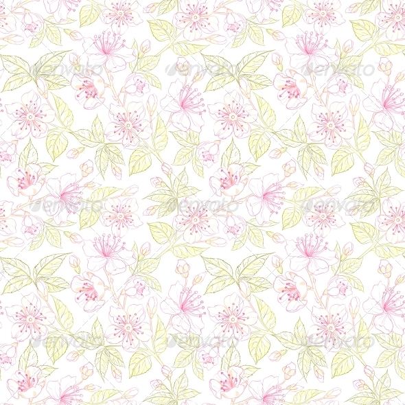 GraphicRiver Seamless Floral Pattern 4639684
