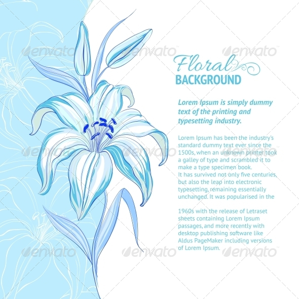 GraphicRiver Abstract Flower Background 4639688
