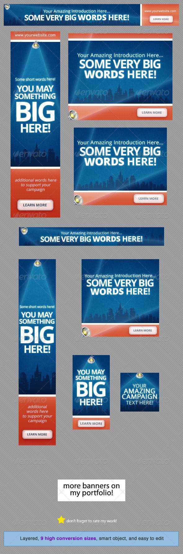 GraphicRiver Spotlight Web Banner Design 4639849