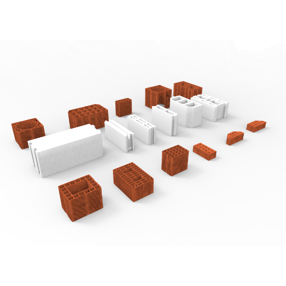 3DOcean Huge Bricks Collection Set 4639875