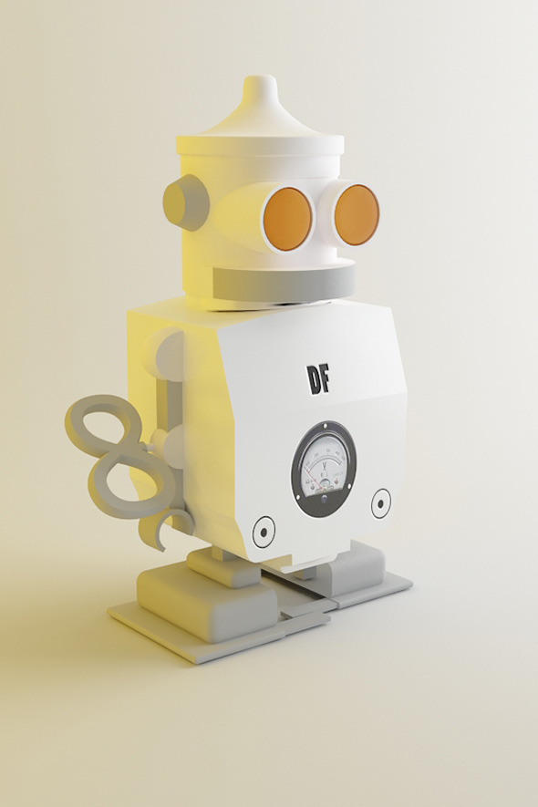 Robotic Salt Box - 3DOcean Item for Sale