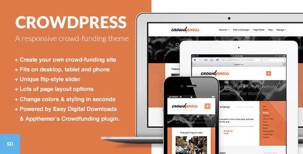 ThemeForest CrowdPress A Crowd-funding WordPress Theme 4639953
