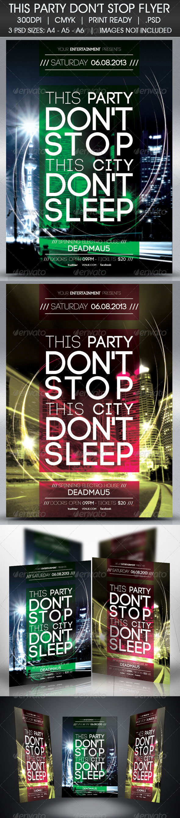 GraphicRiver Party Don t Stop Flyer 4571198
