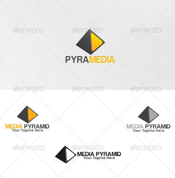 GraphicRiver Media Pyramid Logo Template 4625675