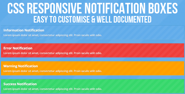 CodeCanyon CSS Responsive Notification Boxes 4634908