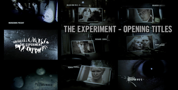 After Effects Project - VideoHive The experiment Movie opening titles 485044