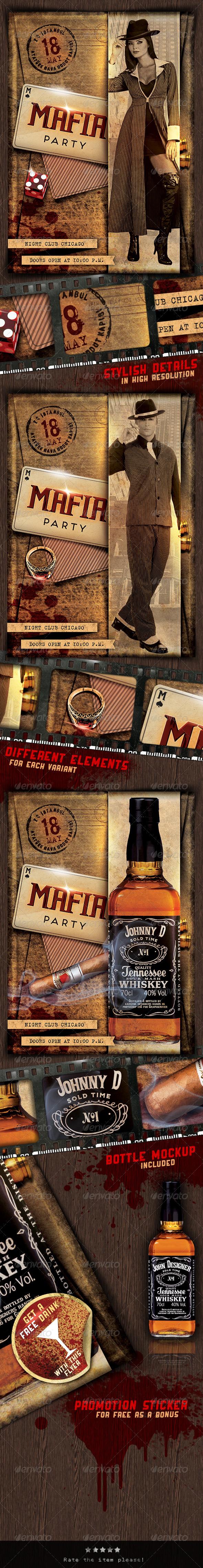 GraphicRiver Mafia Party Flyer 4640373