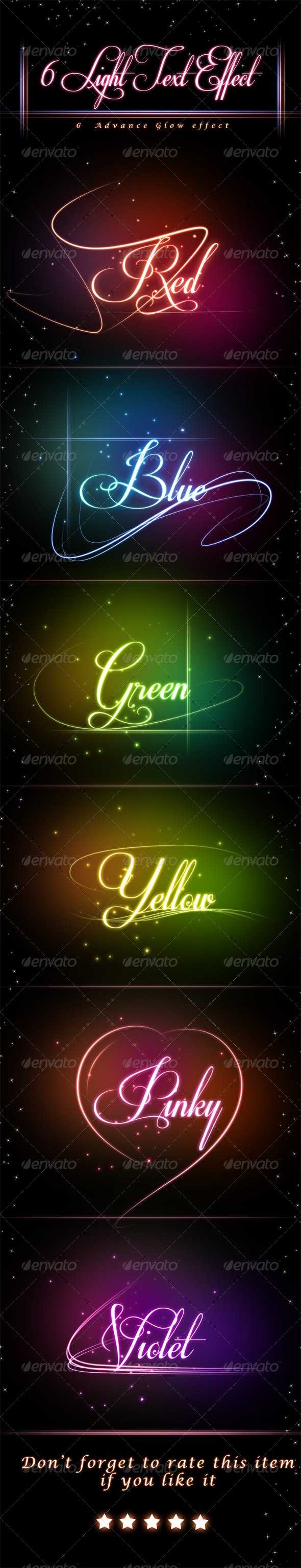 GraphicRiver Glowing Light Text Effect 4640659