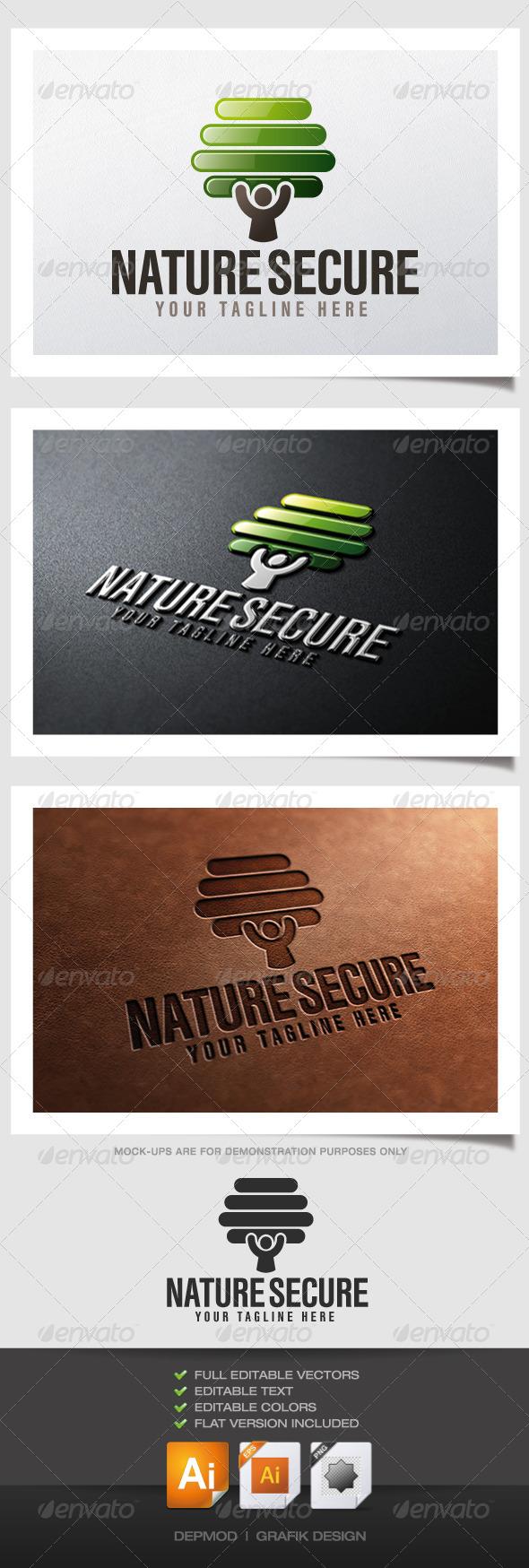 GraphicRiver Nature Secure Logo 4640666