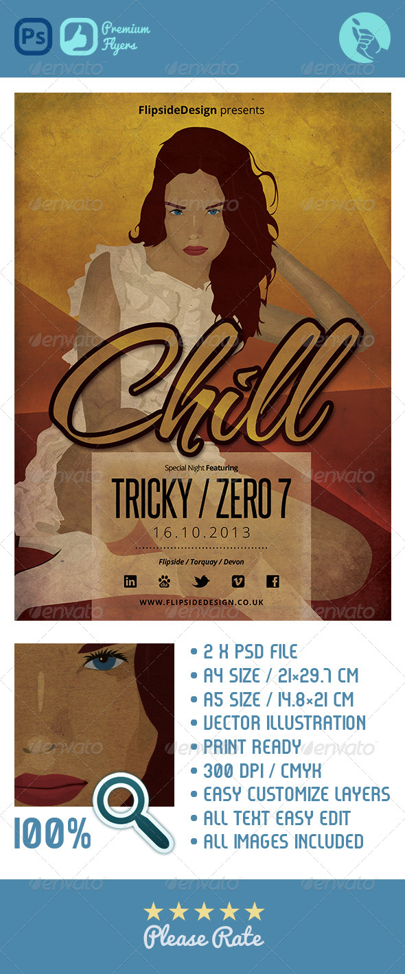 GraphicRiver Chill House Flyer 4640725