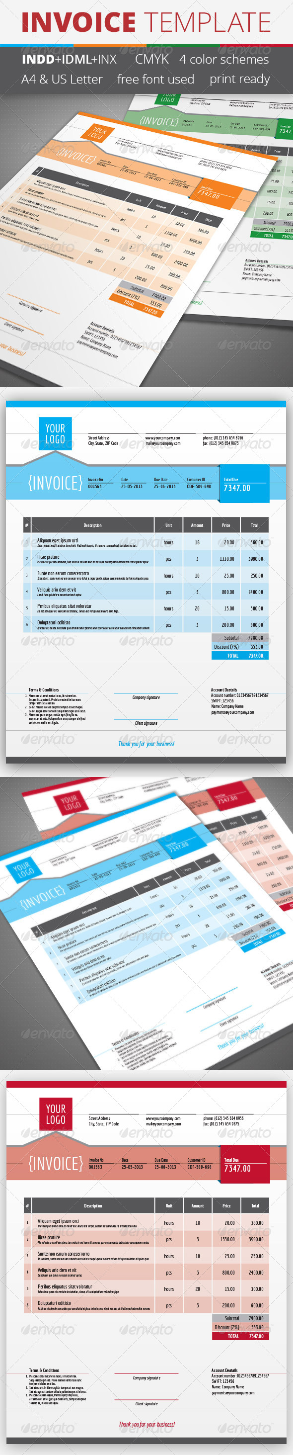GraphicRiver Invoice Template 4640741