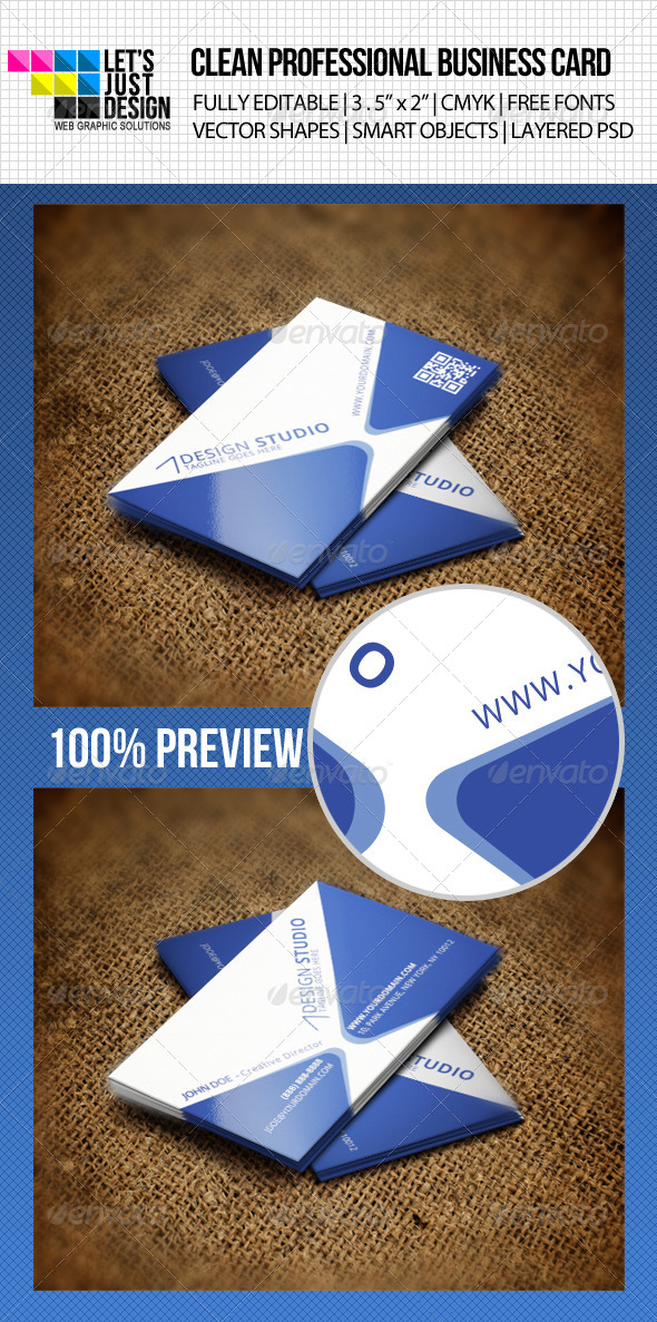 GraphicRiver Clean Corporate Business Card 4559336