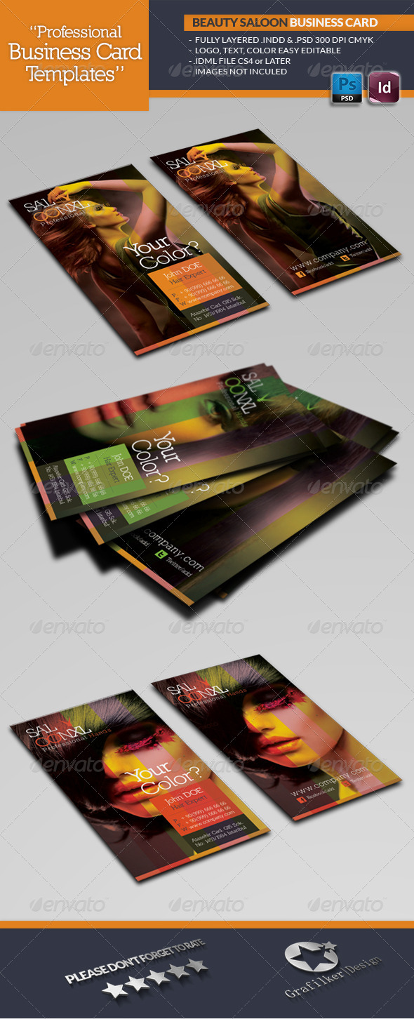 Beauty Salon Business Card Template Graphicriver