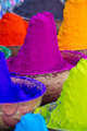 Colorful piles of powdered dyes used for Holi festival in India - PhotoDune Item for Sale