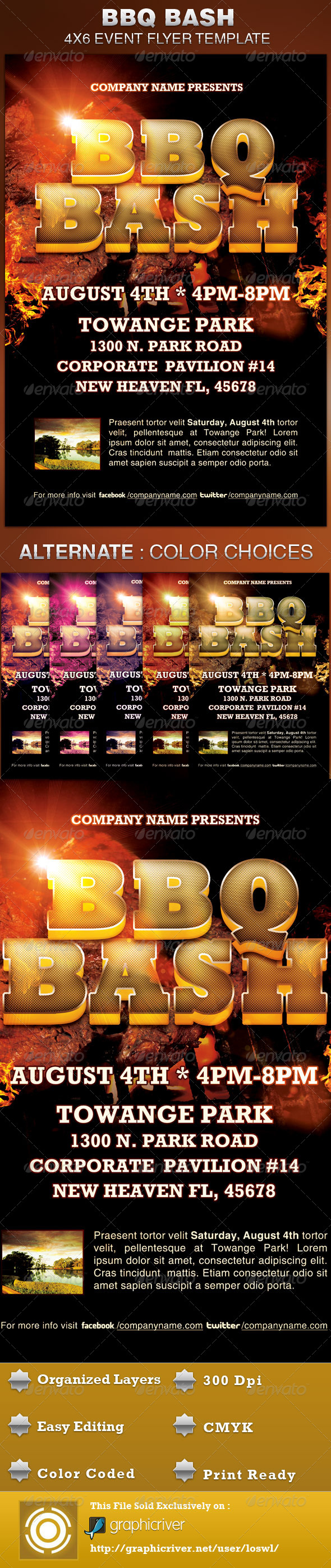 BBQ Bash Event Flyer Template - Events Flyers