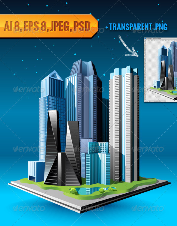 GraphicRiver Group of Buildings 4640907