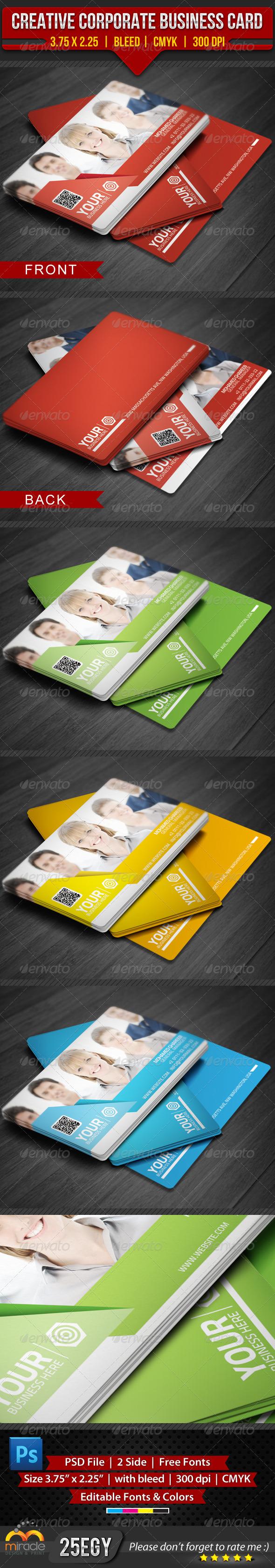 GraphicRiver Creative Corporate Business Card 4575450