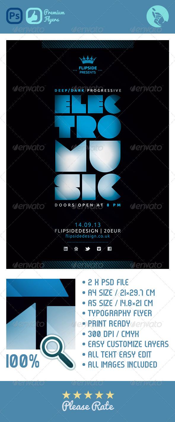 GraphicRiver Electro Flyer 4641244