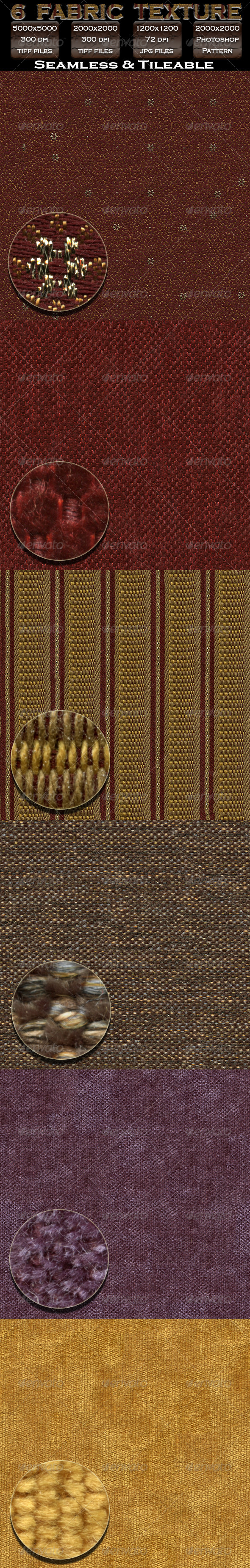 6 Fabric Texture Pack