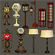 Eight Lamps and Two Lanterns - GraphicRiver Item for Sale