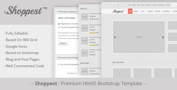 Shoppest: Html5 responsive bootstrap eCommerce