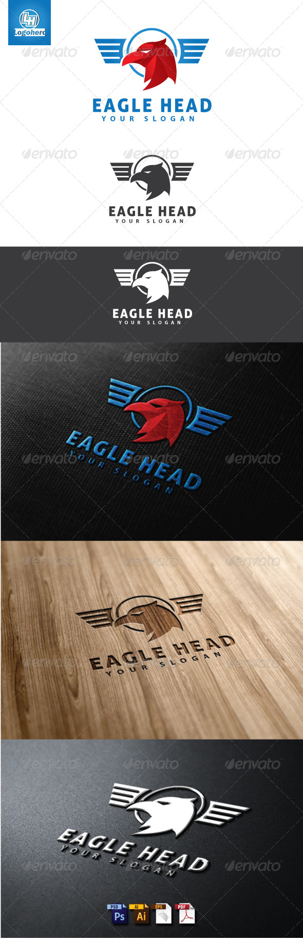 GraphicRiver Eagle Head Logo Template 4641546