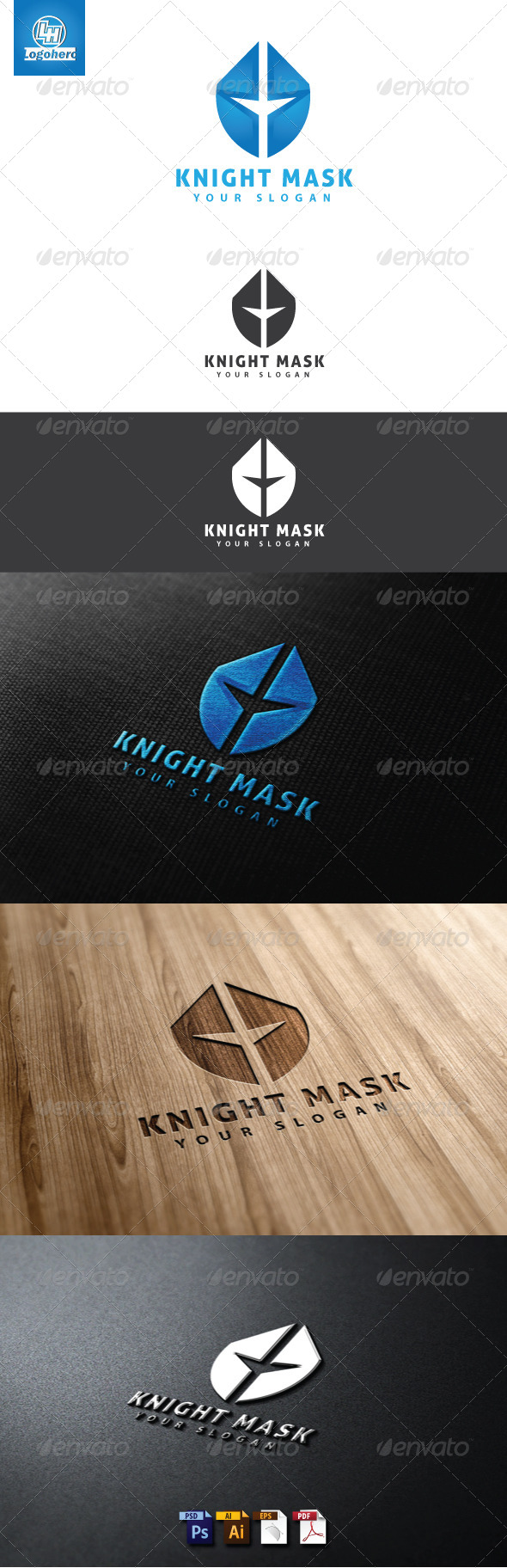 Knight Mask Logo Template - Humans Logo Templates
