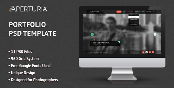 Aperturia – Portfolio PSD Template (Portfolio) images
