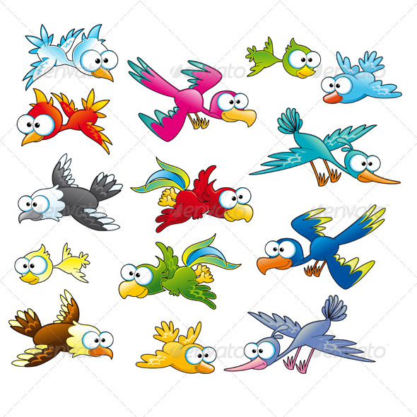 GraphicRiver Family of Funny Birds 4642661