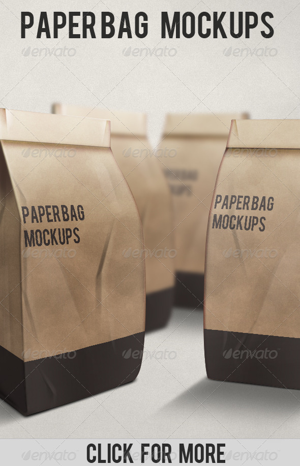 Paper Bag Mockups - Miscellaneous Packaging