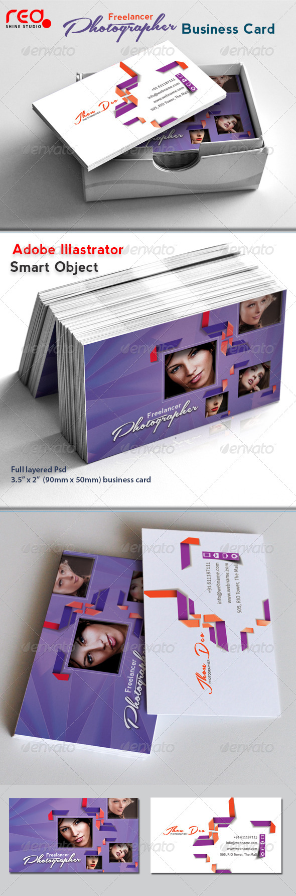 GraphicRiver Freelance Photographer Business Card 03 4643436