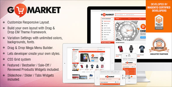 Gala GoMarket - Supermarket vs. Simple Store Theme - Magento eCommerce