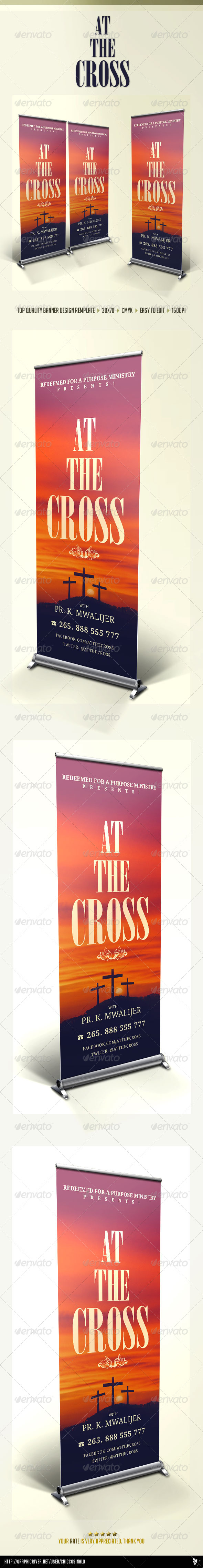 At The Cross Concert Banner - Signage Print Templates
