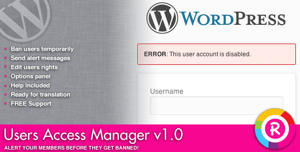 CodeCanyon Users Access Manager 4643700