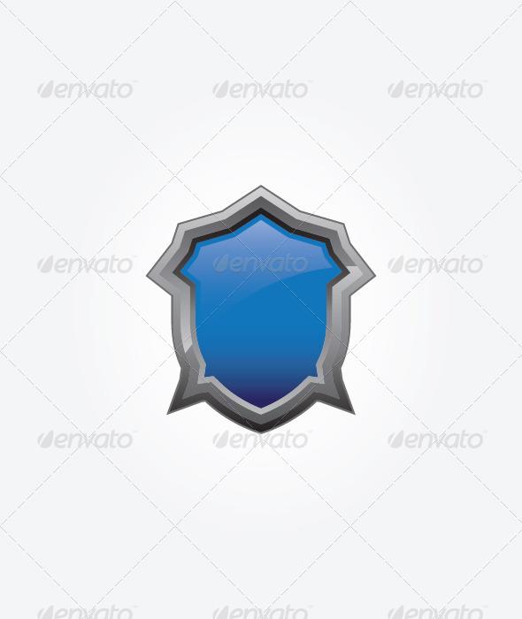 GraphicRiver Blue Shield 4643790