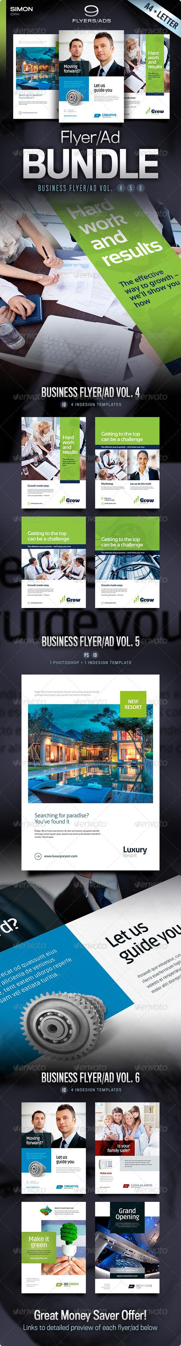 GraphicRiver Business Flyer Ad Bundle Vol 4-5-6 4644126