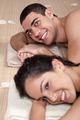 Closeup portrait of a romantic couple on a spa holiday - PhotoDune Item for Sale