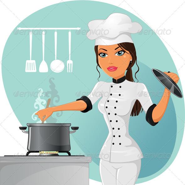 GraphicRiver Woman Chef 4644299