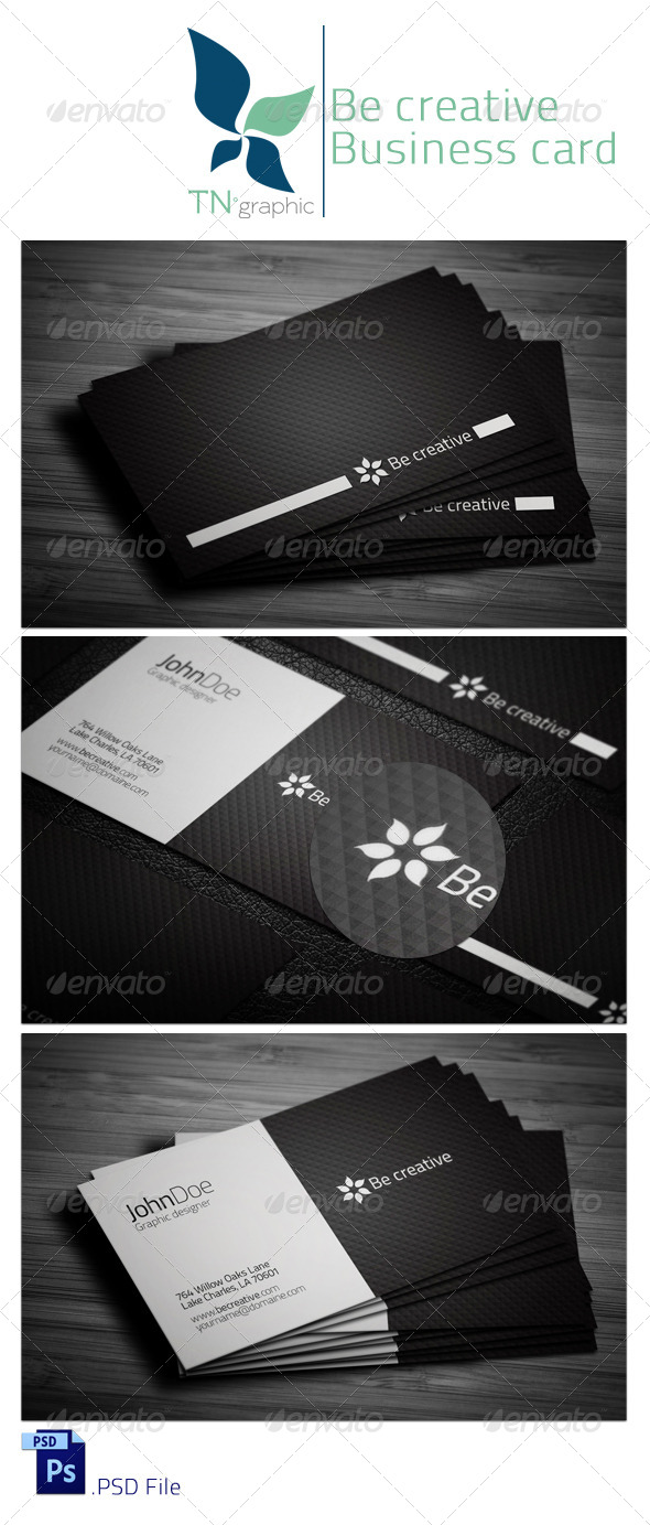GraphicRiver Be Creative II business Card 4341758