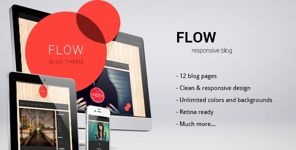 Flow - responsive blog/personal template