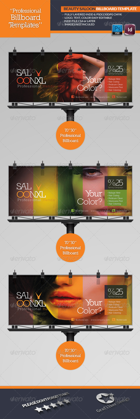 GraphicRiver Beauty Saloon Billboard Template 4582260