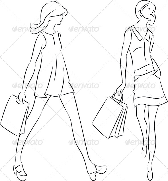 GraphicRiver Shopping Women 4645410