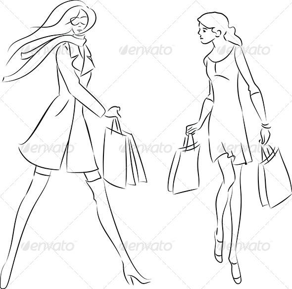 GraphicRiver Shopping Women 4645414