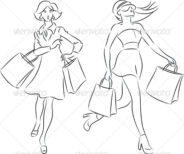 GraphicRiver Shopping Women 4645452
