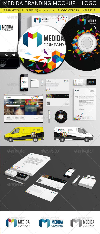 GraphicRiver Medida Branding Mockup & Logo 4645474