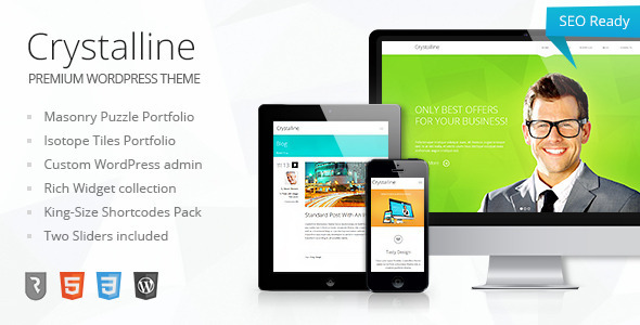 ThemeForest Crystalline Ultimate Business WordPress Theme 4645701